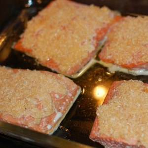 Coconut Crusted Salmon   Yankee Homestead