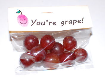 You're grape!  Valentine Bag Toppers