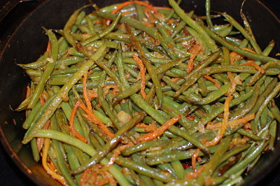 Green Beans Almondine with OJ