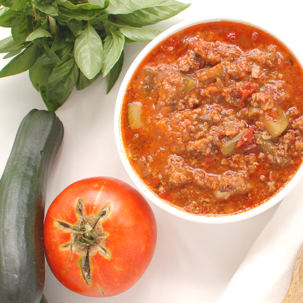 Paleo Hamburger Soup with Beef and Veggies