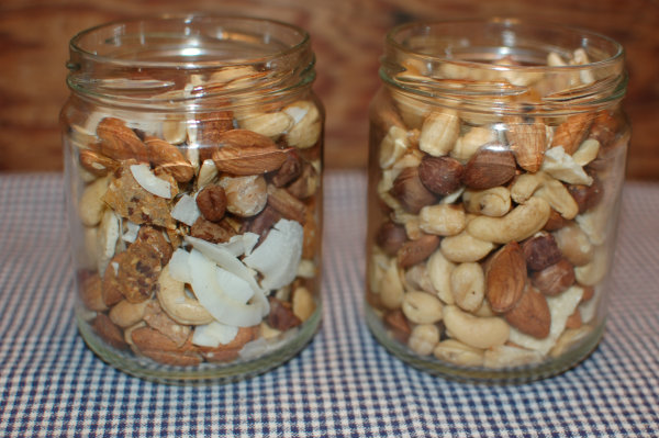 Jars of Trail Mix