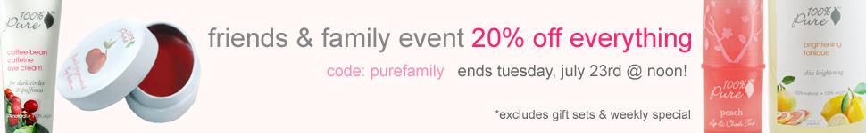 Hot Deal: 20% Off at 100% Pure {Non-toxic Make-up}