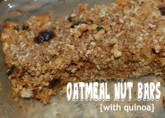 Oatmeal Nut Bars {with quinoa}