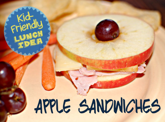 Kid-Friendly Lunch Idea: Apple Sandwiches