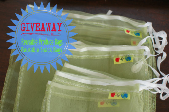 Giveaway: Reusable Produce & Snack Bags