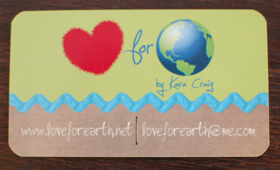 Love for Earth etsy shop
