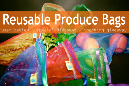Reusable Produce Bags -- Rainbow Set
