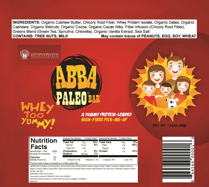Whey Too Yummy ABBA Paleo Bar