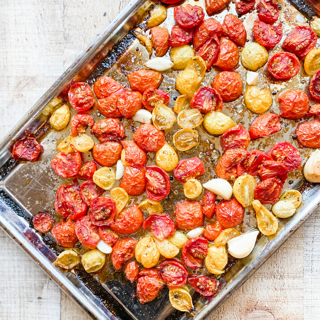 Roasted Cherry Tomatoes | Roots & Boots