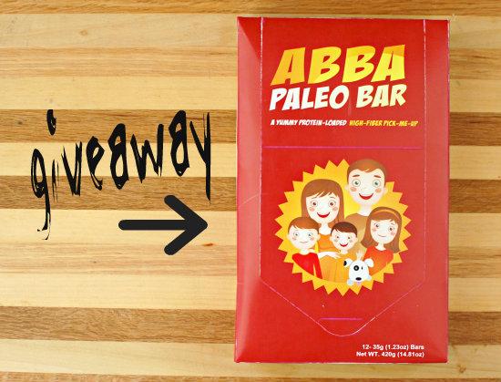 Giveaway: ABBA Paleo Bars