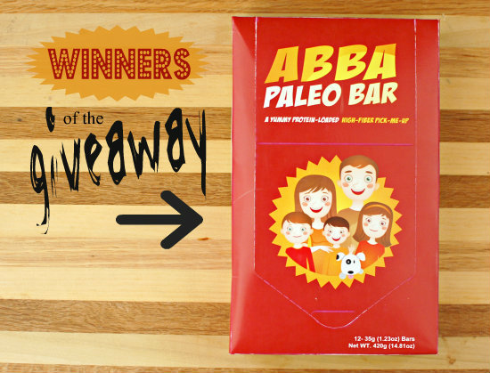 Winners of the ABBA Bar Giveaway