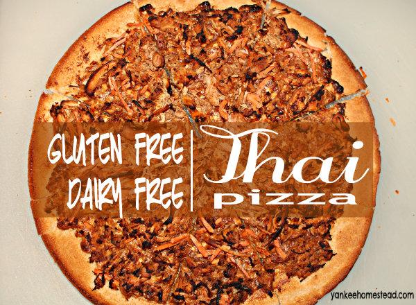 Gluten Free Dairy Free Thai Pizza