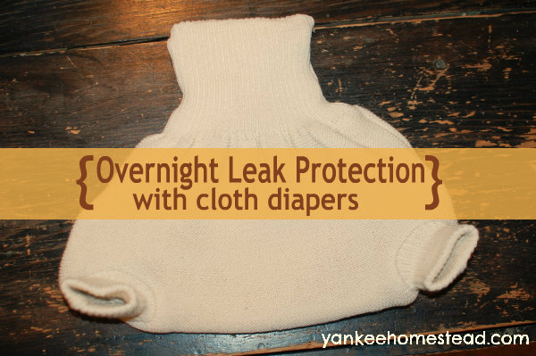 Overnight Leak Protection with Cloth Diapers