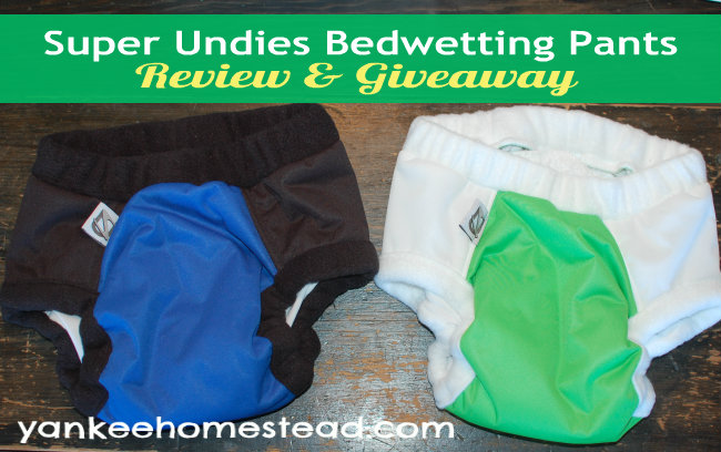 Super Undies Bedwetting Pants | Yankeehomestead.com