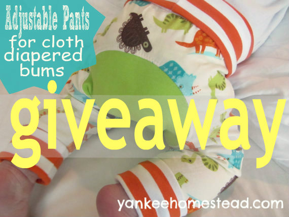 Win a pair of Monster Bunz pants for cloth diapers | Yankeehomestead.com