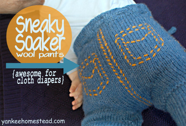 Sneaky Soaker Wool Pants for Cloth Diapers