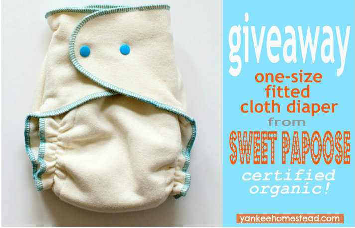 Baby Giveaway: One Size Fitted Cloth Diaper {certified organic}