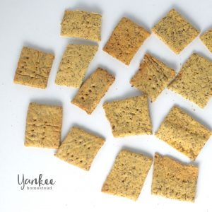 Gluten Free Homemade Crackers with Fava Flour | Yankee Homestead