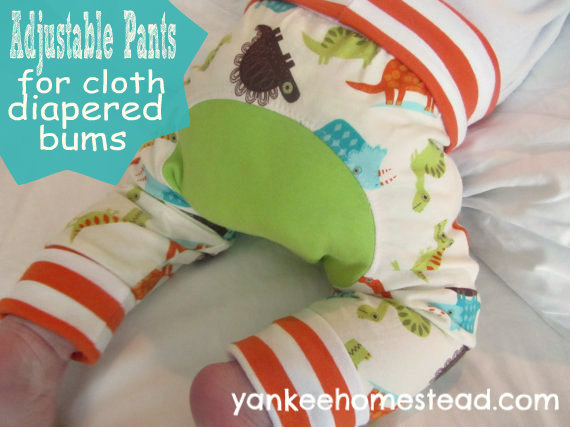 Adjustable Pants for Cloth Diapered Bums