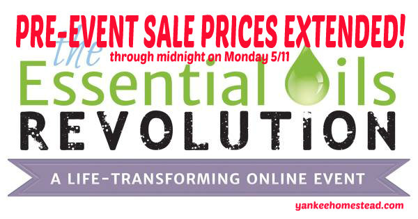 Pre-Event Sale Extended for Essential Oils Revolution {through midnight tonight}