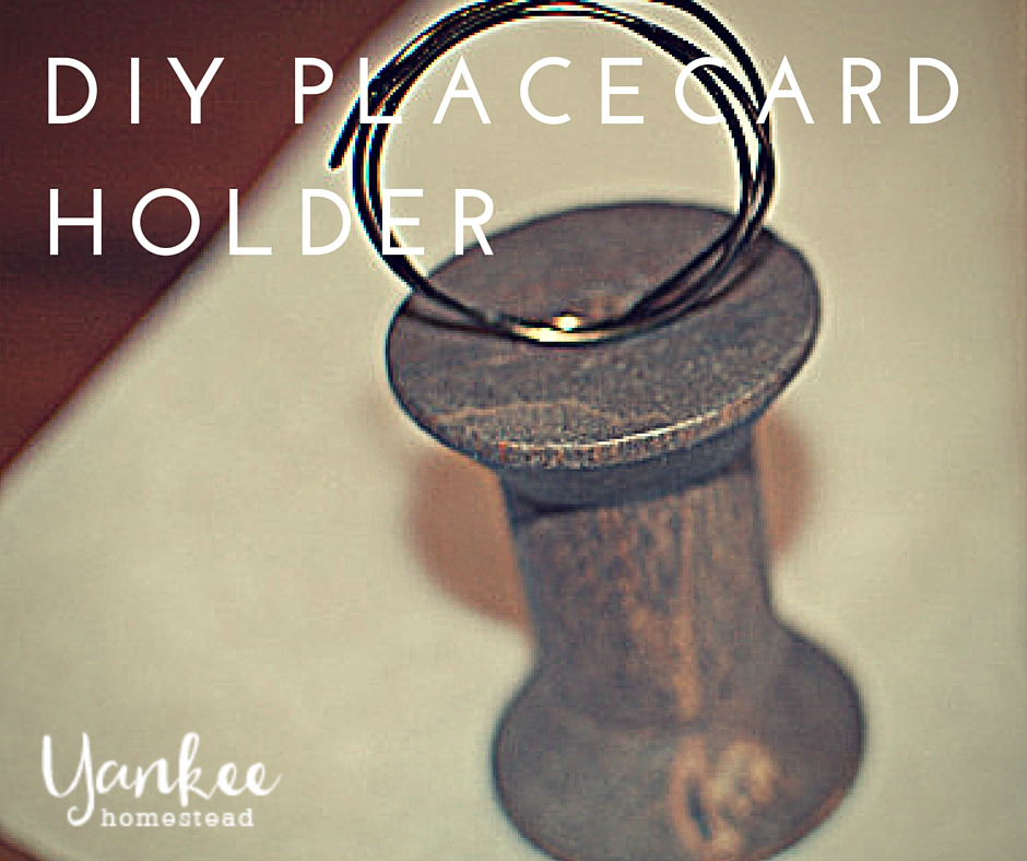 Rustic DIY Place Card Holders