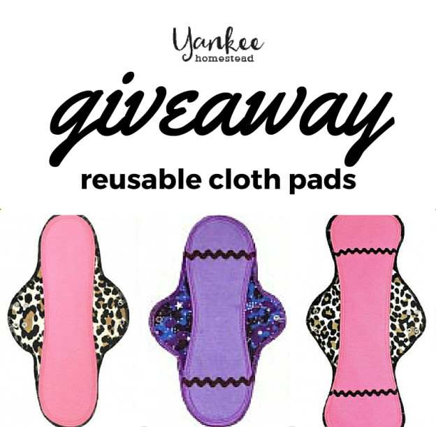 Reusable Cloth Pads Giveaway | Yankee Homestead