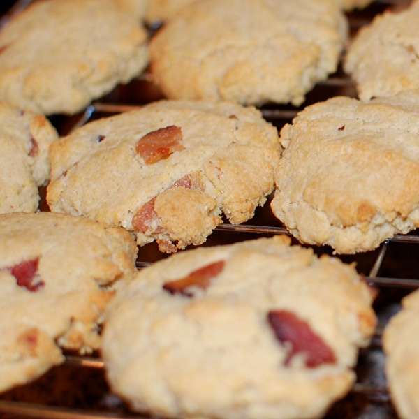 Almond Flour Bacon Biscuits