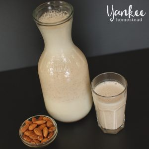 Make almond milk at home! It's cheaper and healthier than store bought versions. All you need is almonds, water and salt. (Optional: sweetener and vanilla.)