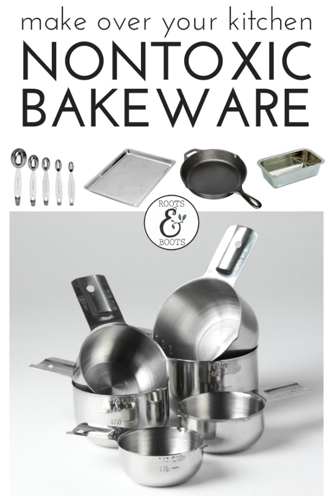 Looking for safer, healthier kitchenware? You'll love this list of my favorite nontoxic bakeware! | Make Over Your Kitchen with Nontoxic Bakeware | Roots & Boots