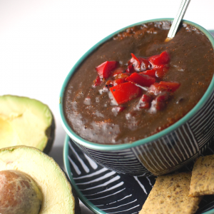 Hearty Black Bean Salsa Soup | Yankee Homestead