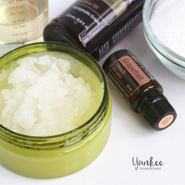 Scoopable DIY Sugar Scrub with Essential Oils
