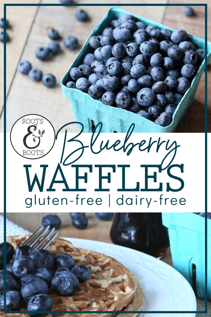 Paleo Blueberry Blender Waffles | Roots & Boots