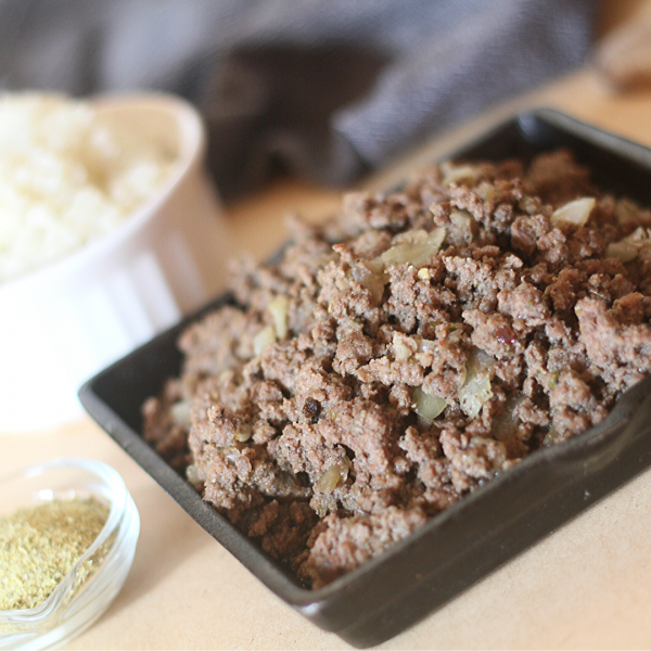 Paleo Adobo Beef with Cauli Rice