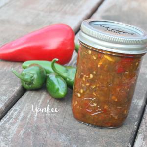 Honey Sweetened Hot Pepper Jam for Canning | Yankee Homestead