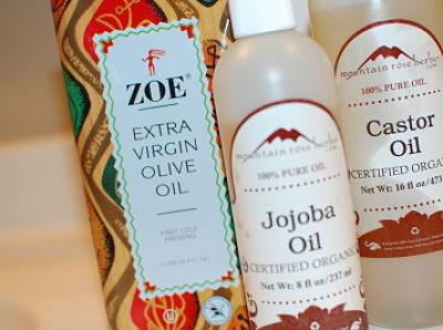 olive oil, jojoba oil & castor oil