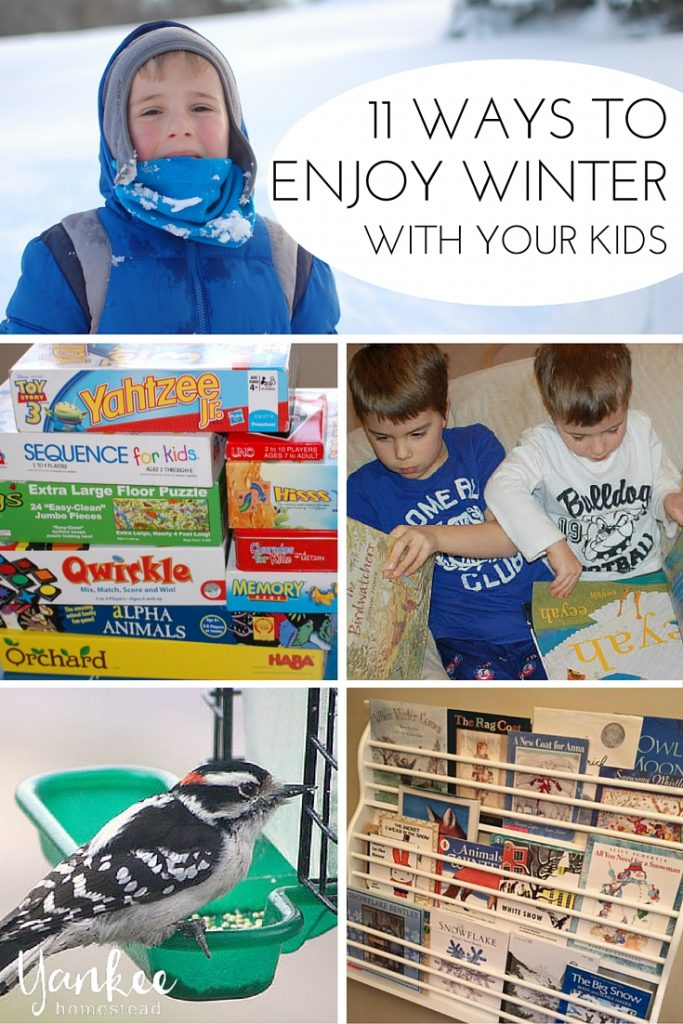 Shake off those long weary days and infuse some joy into the season with this list of 11 ways to enjoy winter with your kids!
