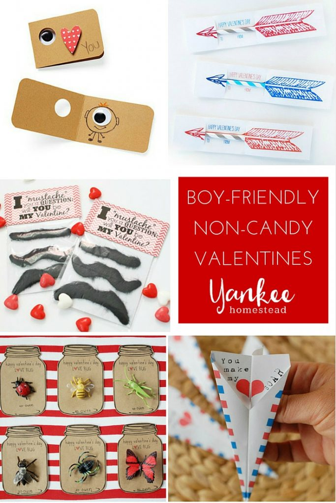 Avoid the candy overload with these fun DIY valentines. Especially for boys, but great for gal pals, too!