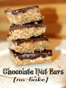 Chocolate Nut Bars no bake