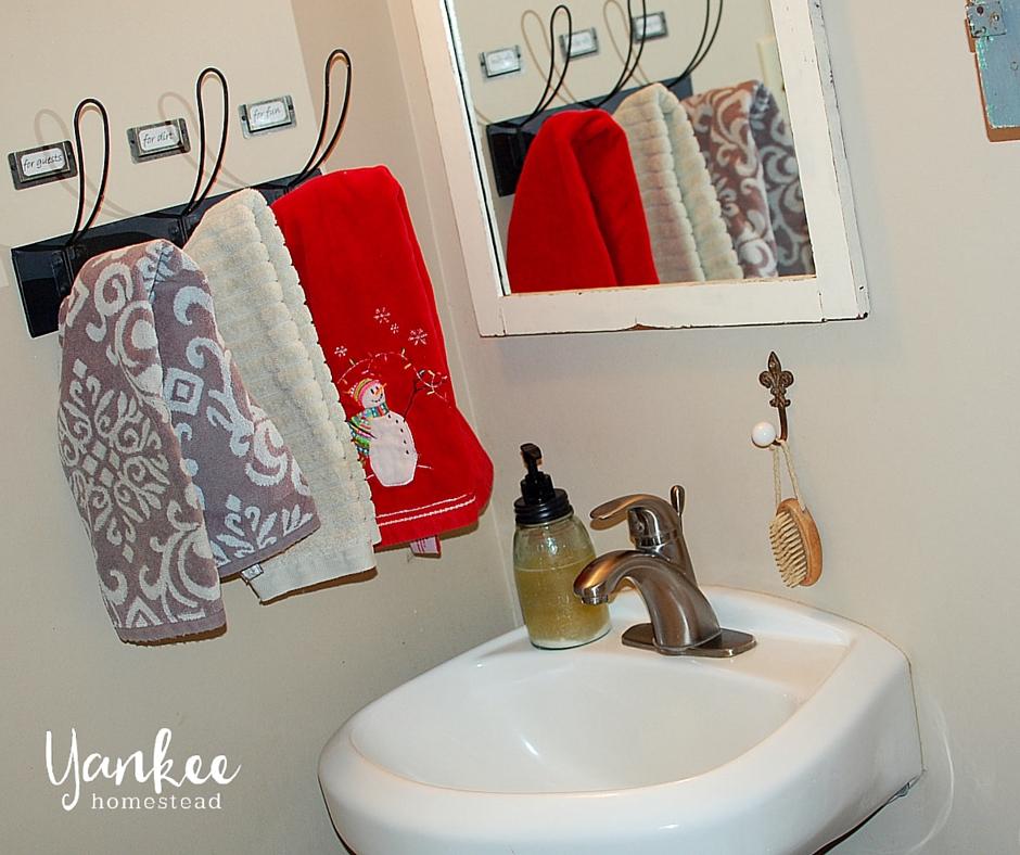 DIY Towel Rack Labels | Yankee Homestead