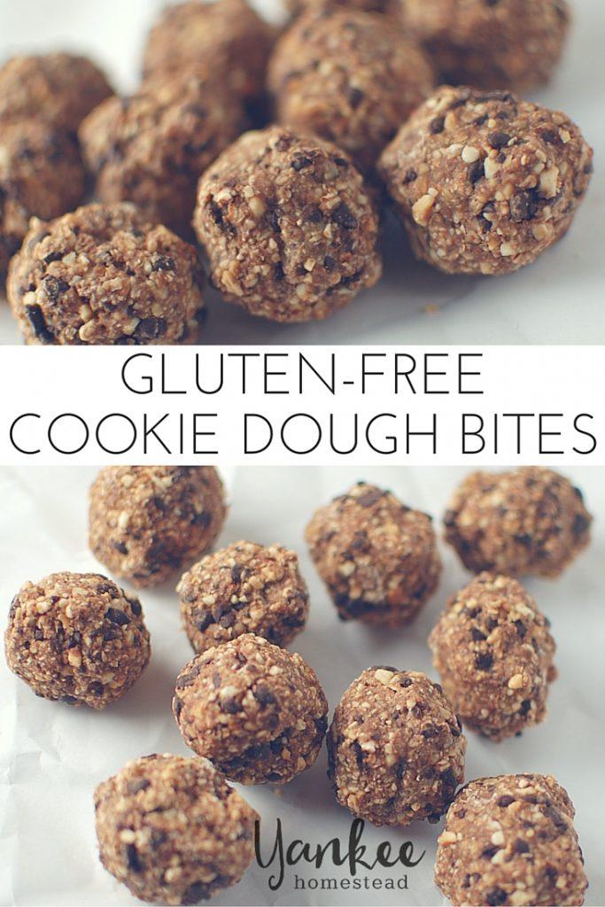 Gluten Free Cookie Dough Bites   Yankee Homestead