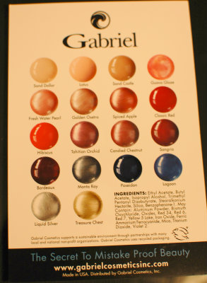 Gabriel color card
