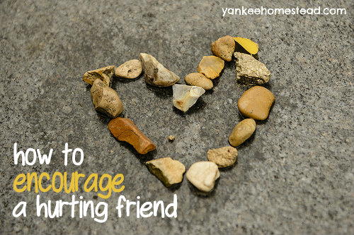 How to Encourage a Hurting Friend   Yankeehomestead.com