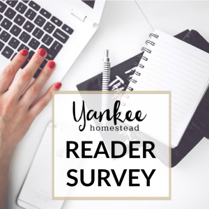 Please take my Reader Survey, and help me create content that serves your needs. It's mostly multiple choice and should take you only a few minutes. I'd be ever so grateful to receive your feedback...thanks in advance!