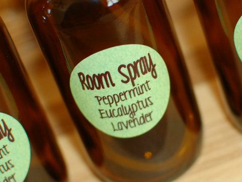 Room Spray Label from The Lollipop Shop