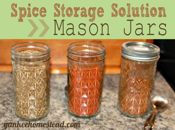 Spice Storage Solution: Mason Jars