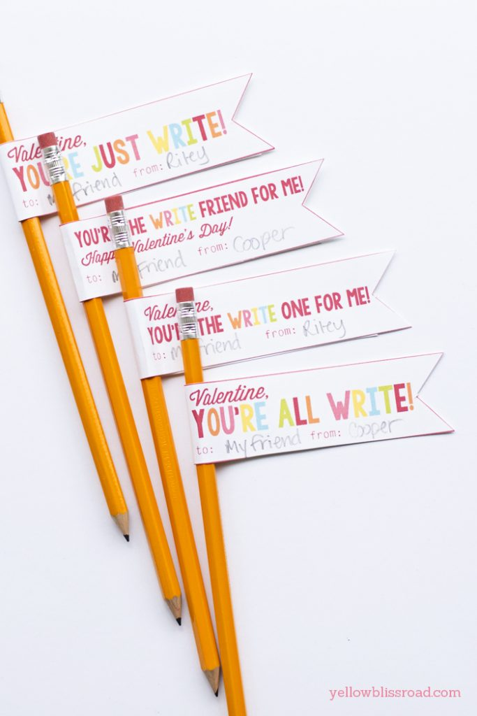 You're all write: Non-candy valentines ideas | Roots & Boots
