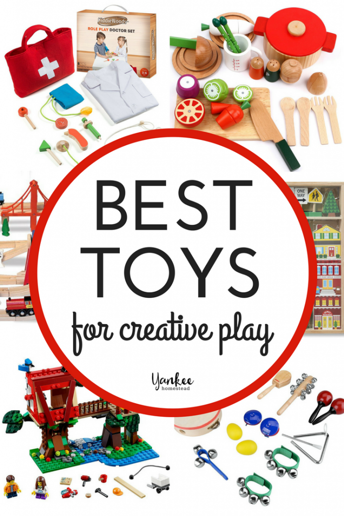 Need a little help choosing the best toys for creative play? Your kids will love these sturdy toys that foster imaginative and open-ended play.| Best Toys for Creative Play | Yankee Homestead