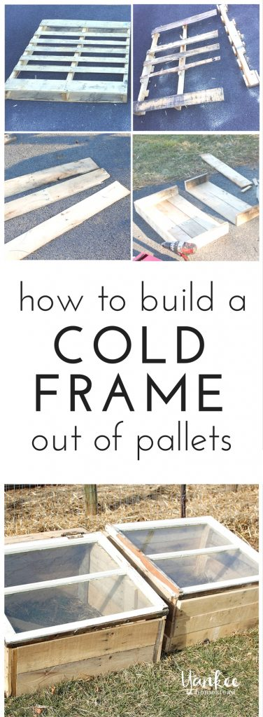 Build a cold frame out of pallets, and extend your garden harvest to enjoy year-round vegetable production with very little cost. | How to Build a Cold Frame out of Pallets | Yankee Homestead