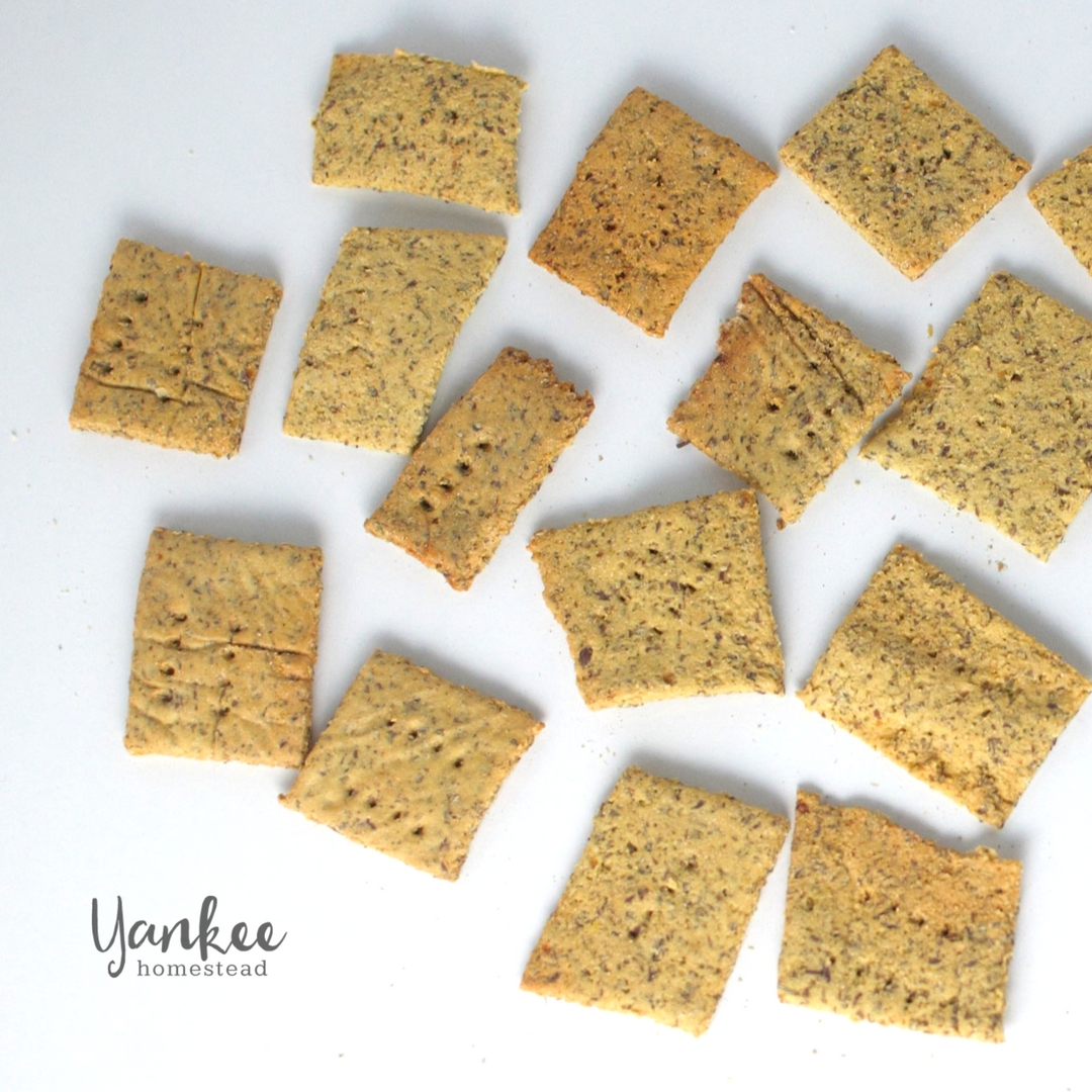 Gluten Free Homemade Crackers with Fava Flour