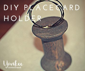 DIY Rustic Place Card Holders